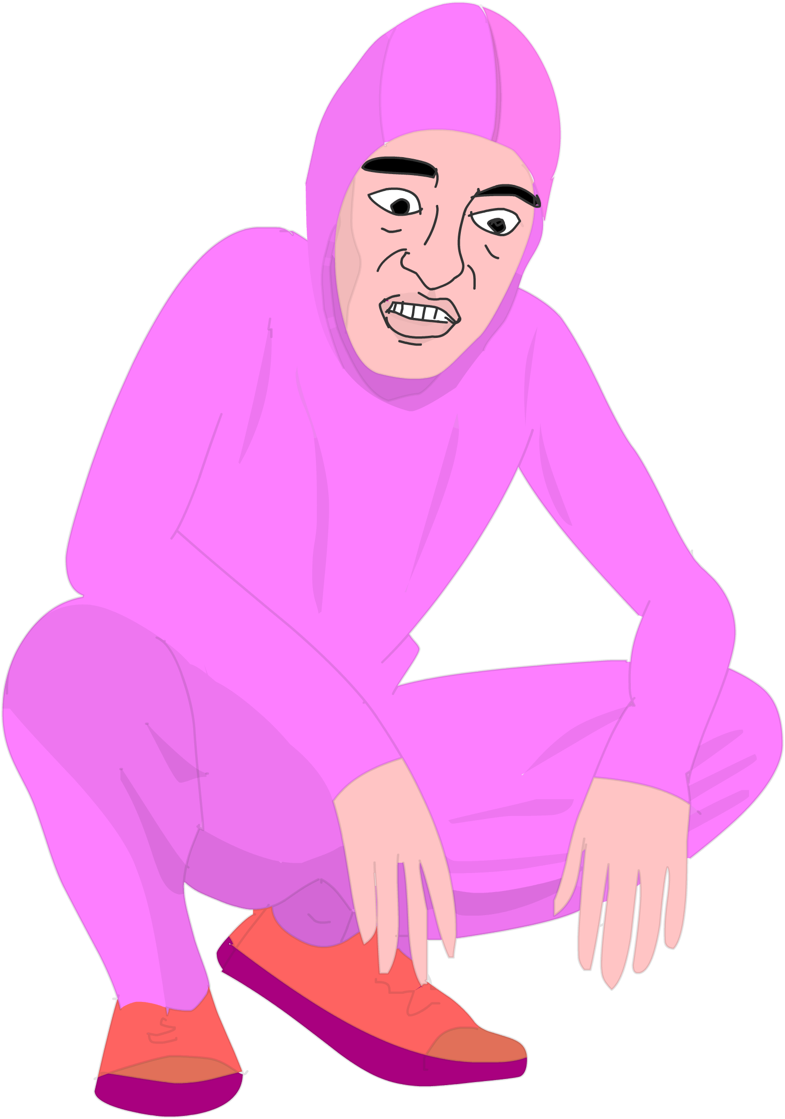 Dreads vector black. Pink guy free and