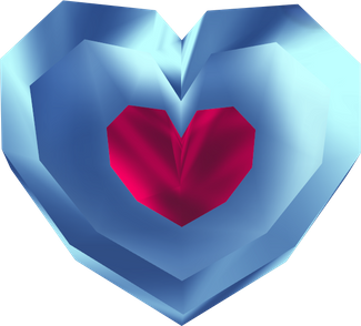 Heart container png. Pieces the legend of