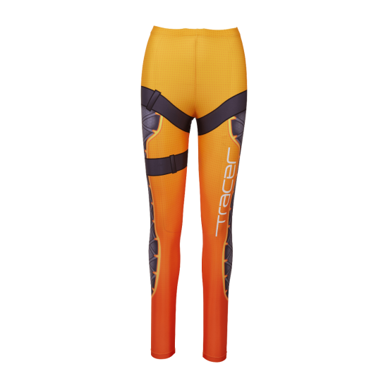 Leggings transparent pants. Overwatch tracer blizzard gear
