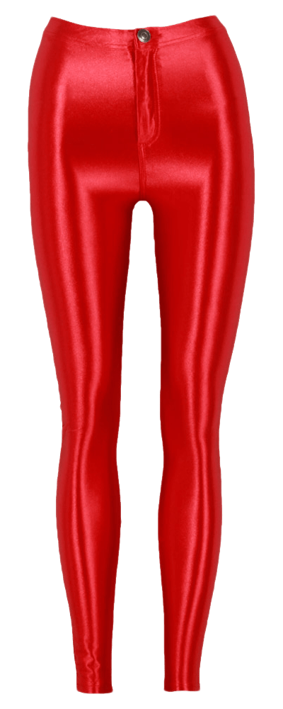 Leggings transparent pants. Red background