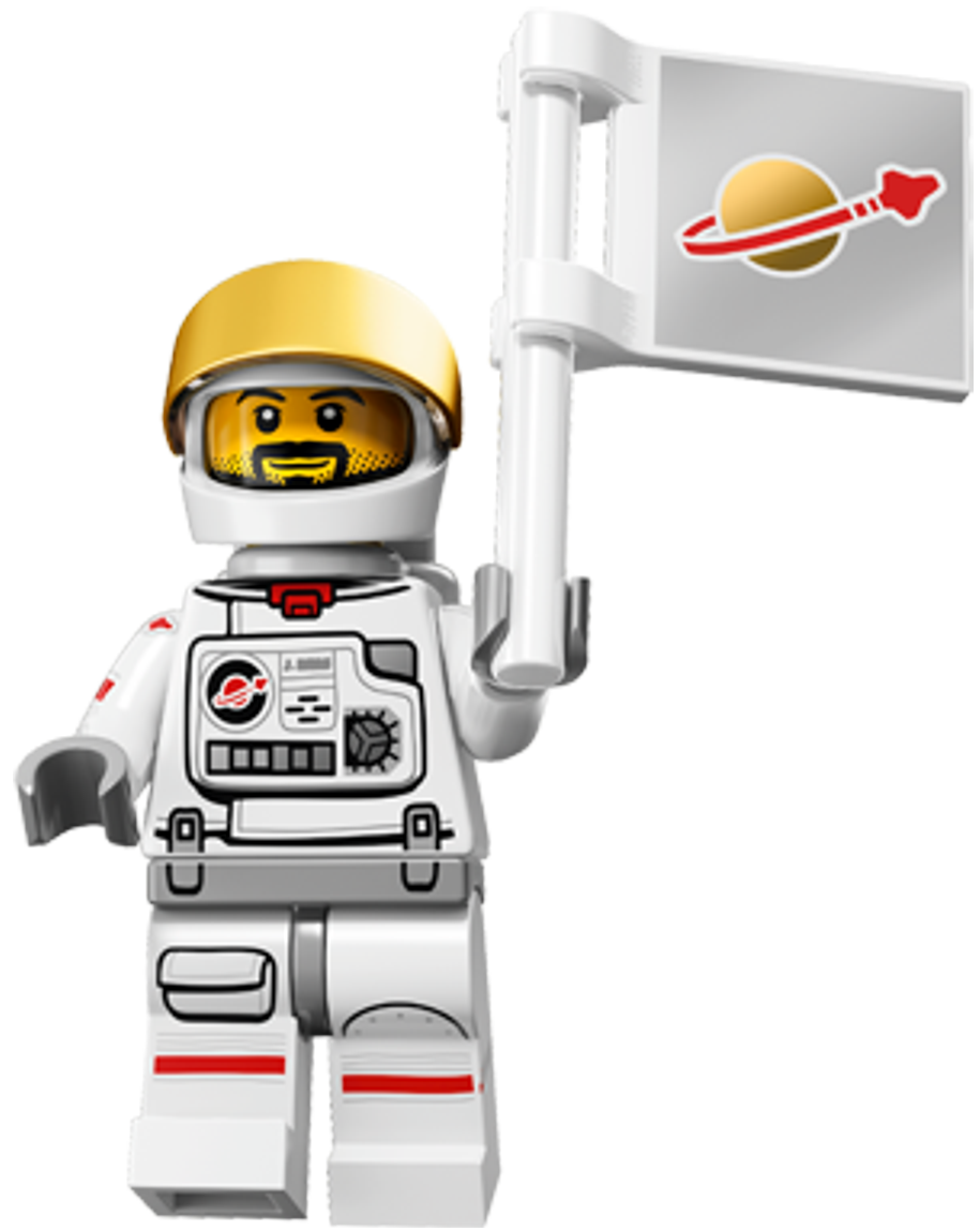 Lego astronaut png. Minifigures series classic spaceman