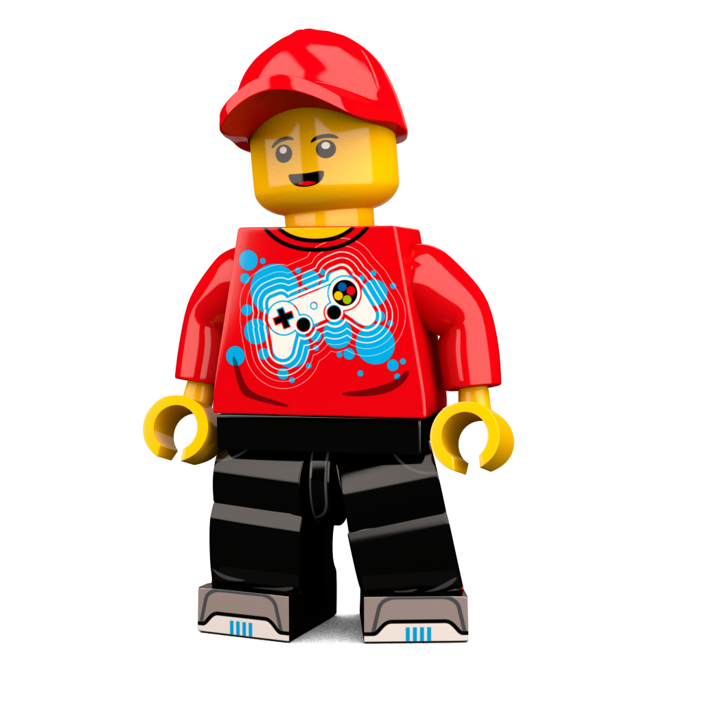 transparent lego custom