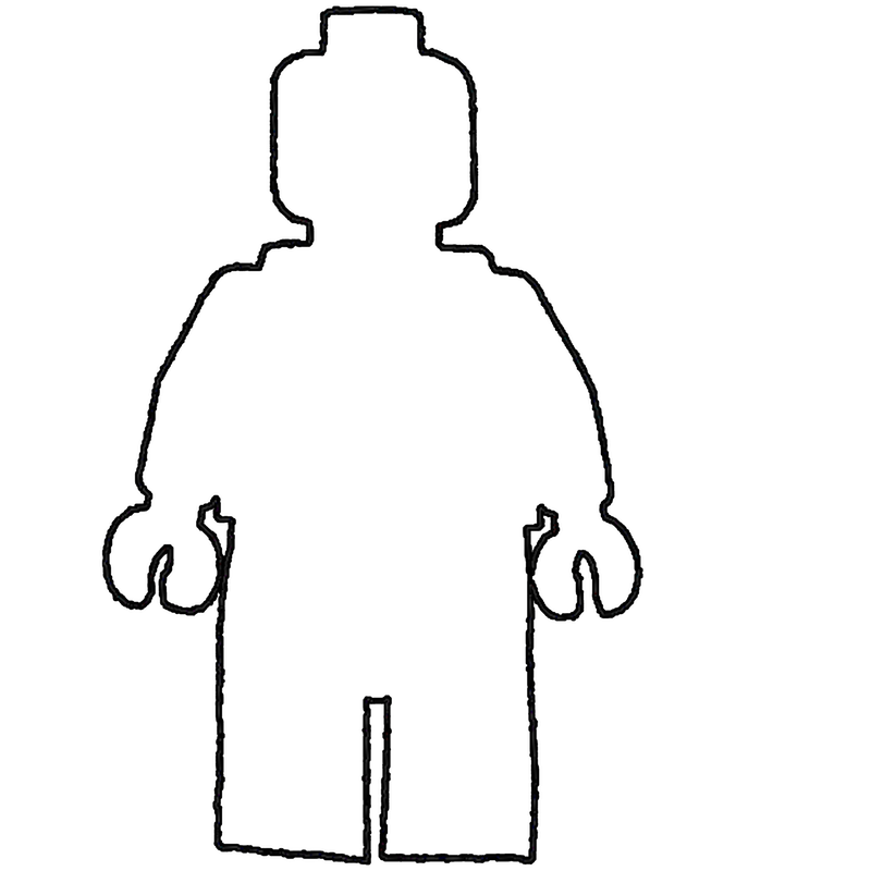 Free blank person outline. Challenger drawing colouring picture download