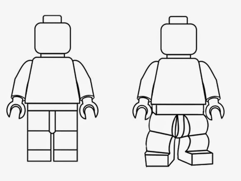 Lego clipart black and white. Simple minifigures outline silhouette