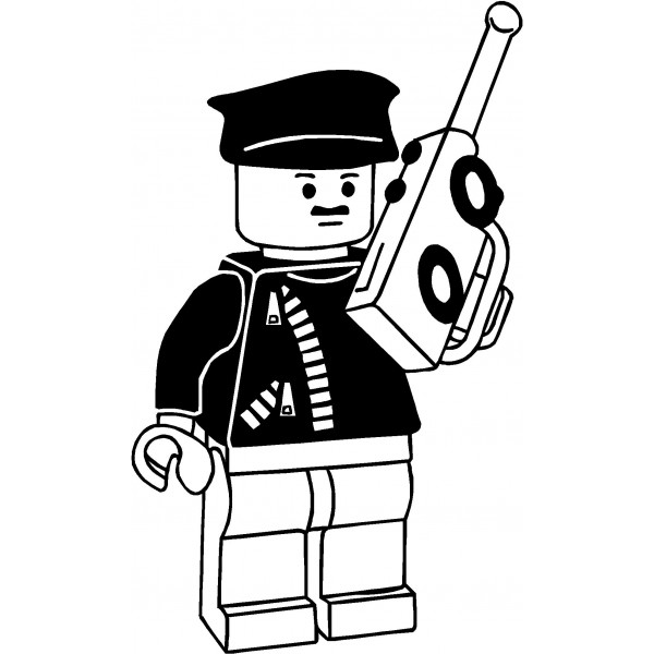 Lego clipart black and white. Clip art decal panda