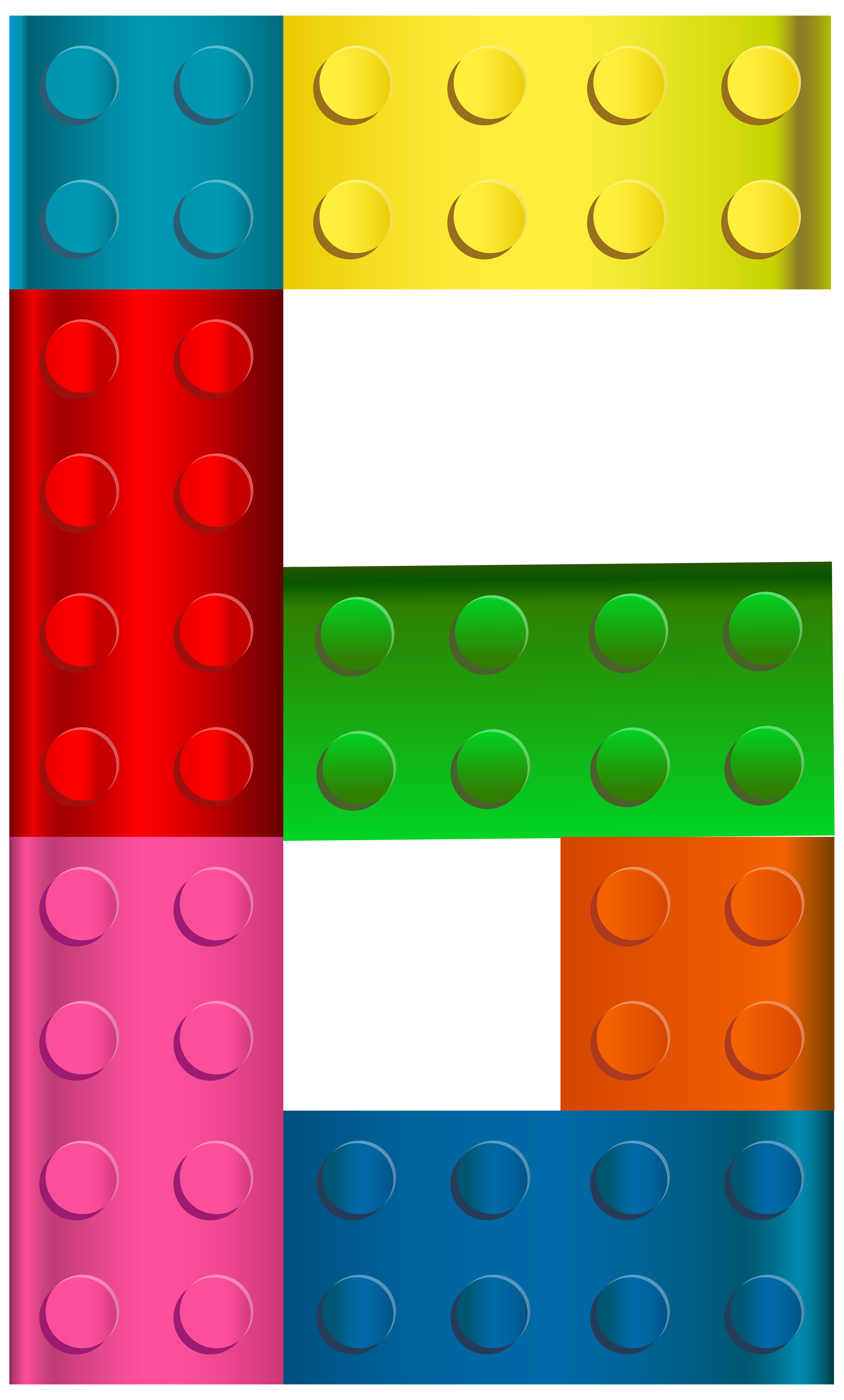 Legos transparent falling. Lego number six png