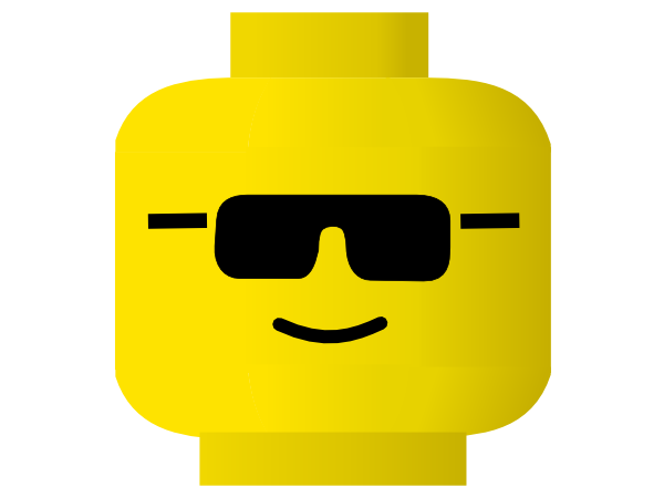Lego clipart png. Cool glass emoji face