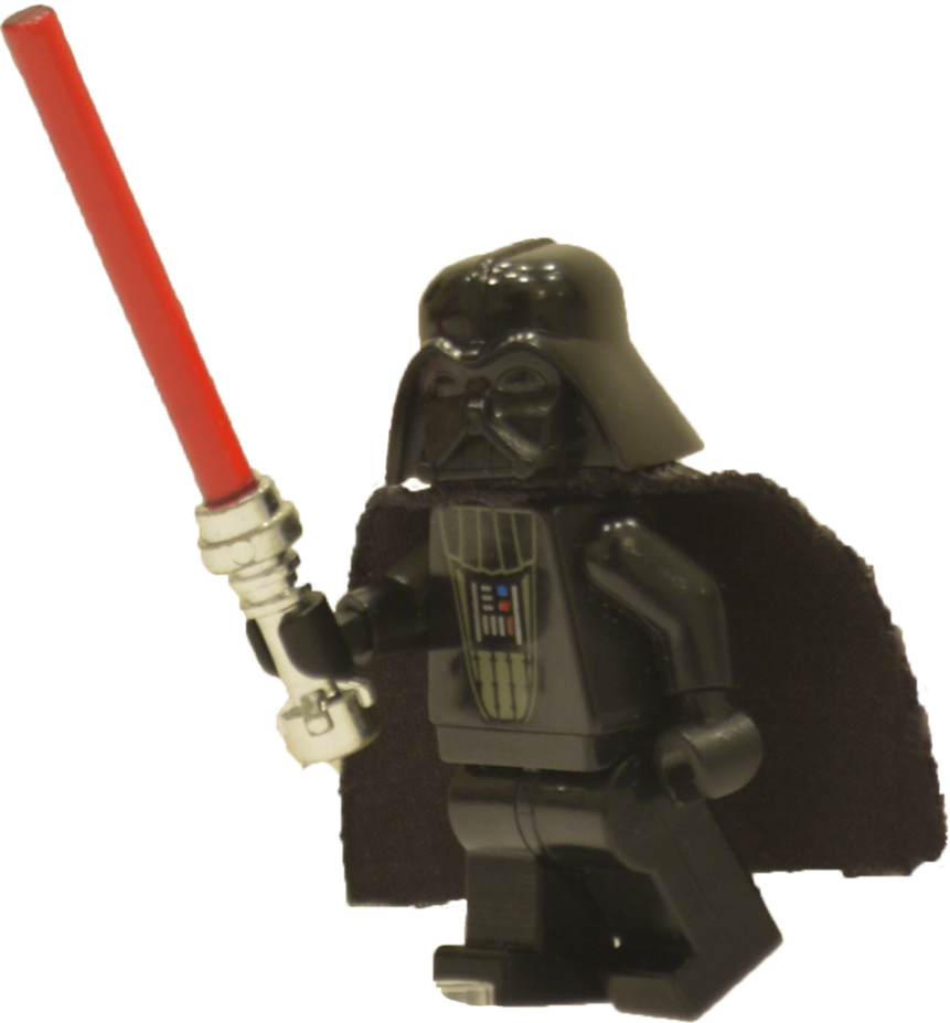 Lego darth vader png. With light saber by
