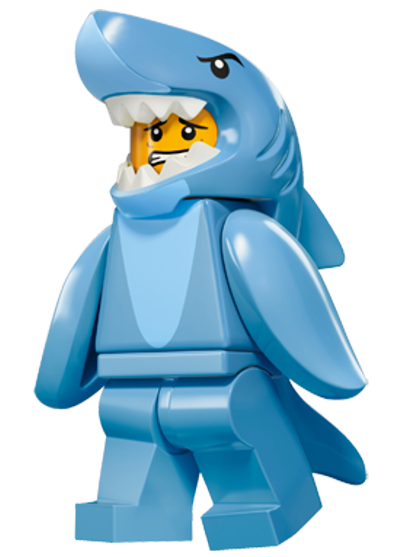 Lego figures png. Minifigures series shark suit
