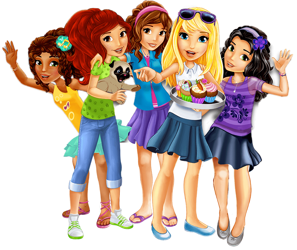 Lego friends png. Holding cupcakes transparent stickpng