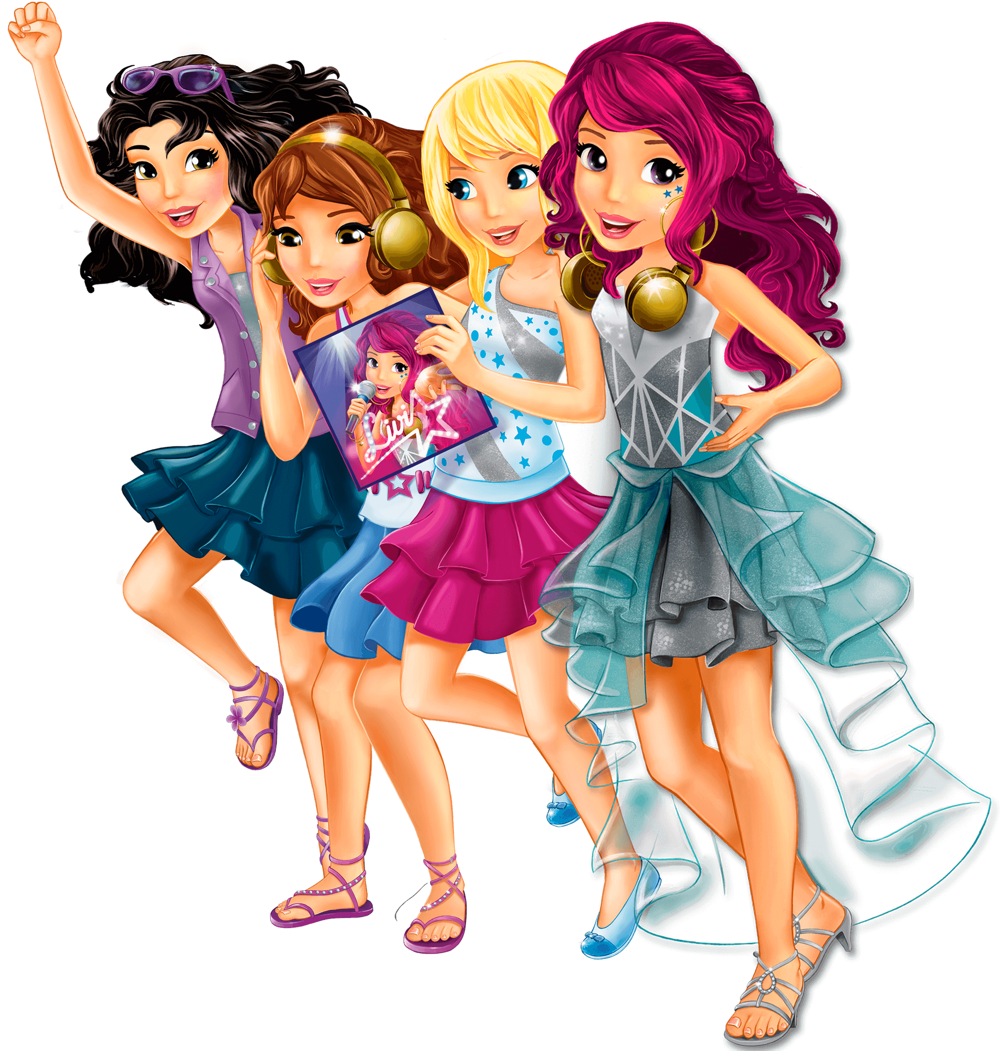 Lego friends png. Image party slide girls