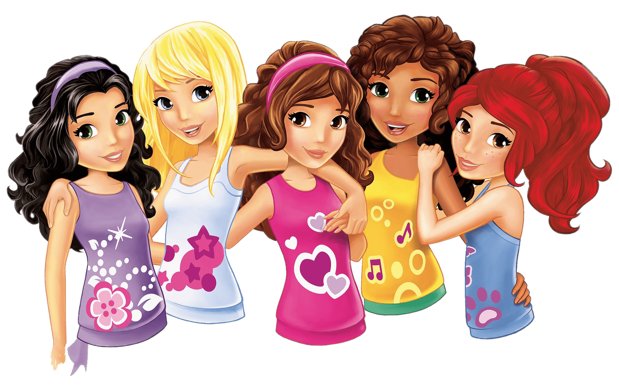 Lego friends png. Portraits transparent stickpng download