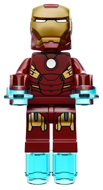 transparent lego iron man