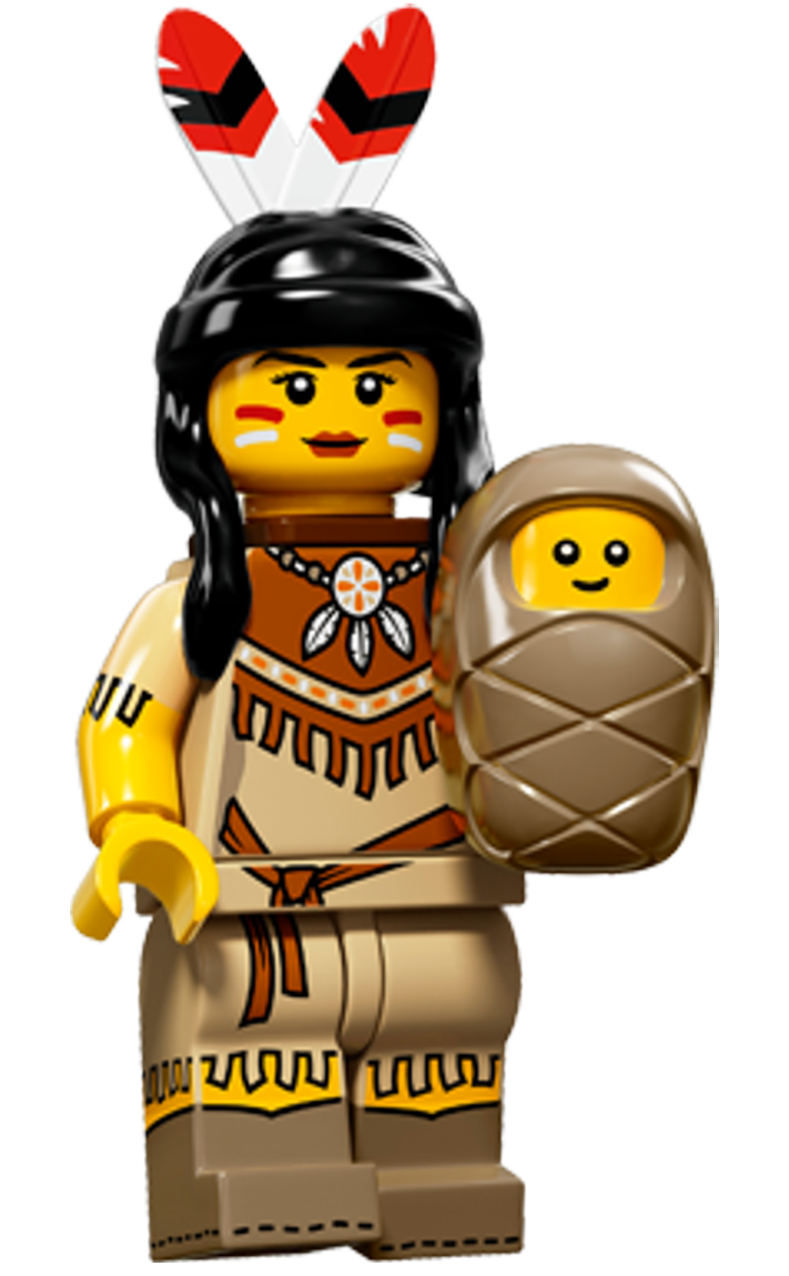 Lego minifigure png. Minifigures series indian tribal