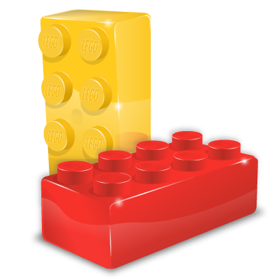 legos transparent pile