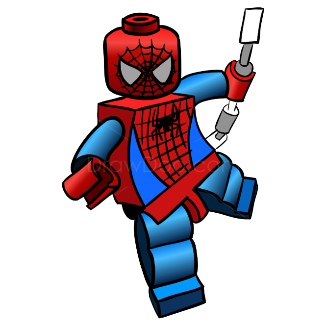 Super drawing spiderman. Lego clipart image