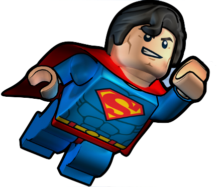 transparent lego superman