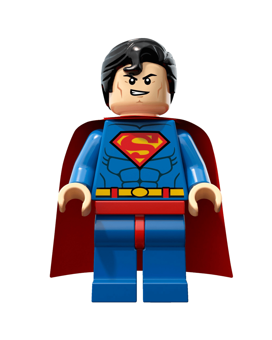 Lego superman png. Transparent stickpng download
