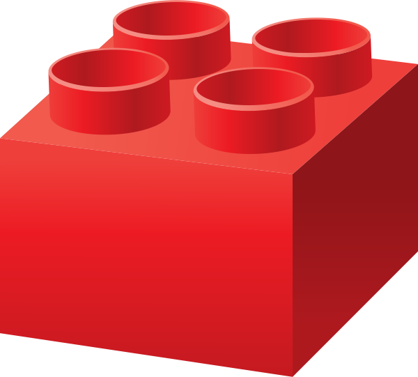 legos transparent red
