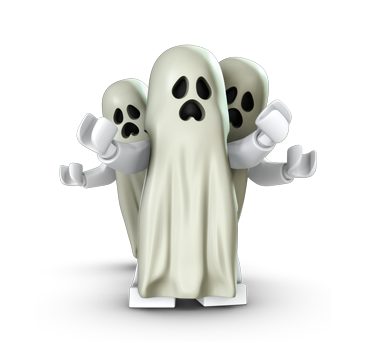 Legos transparent ghost. The ghosts lego monster