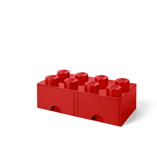 Legos transparent red. Lego home storage brick