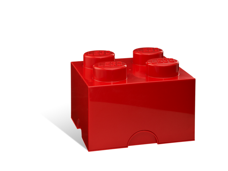 Legos transparent red. Lego storage brick kiddiwinks