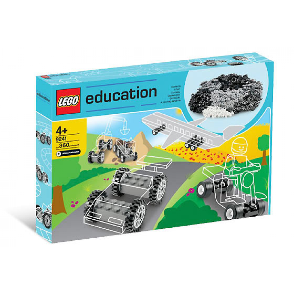 Legos transparent set. Lego createur education wheels