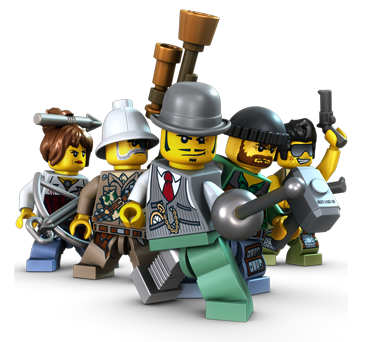 Transparent lego team. Monster fighters the video
