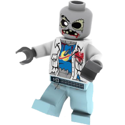 legos transparent zombie