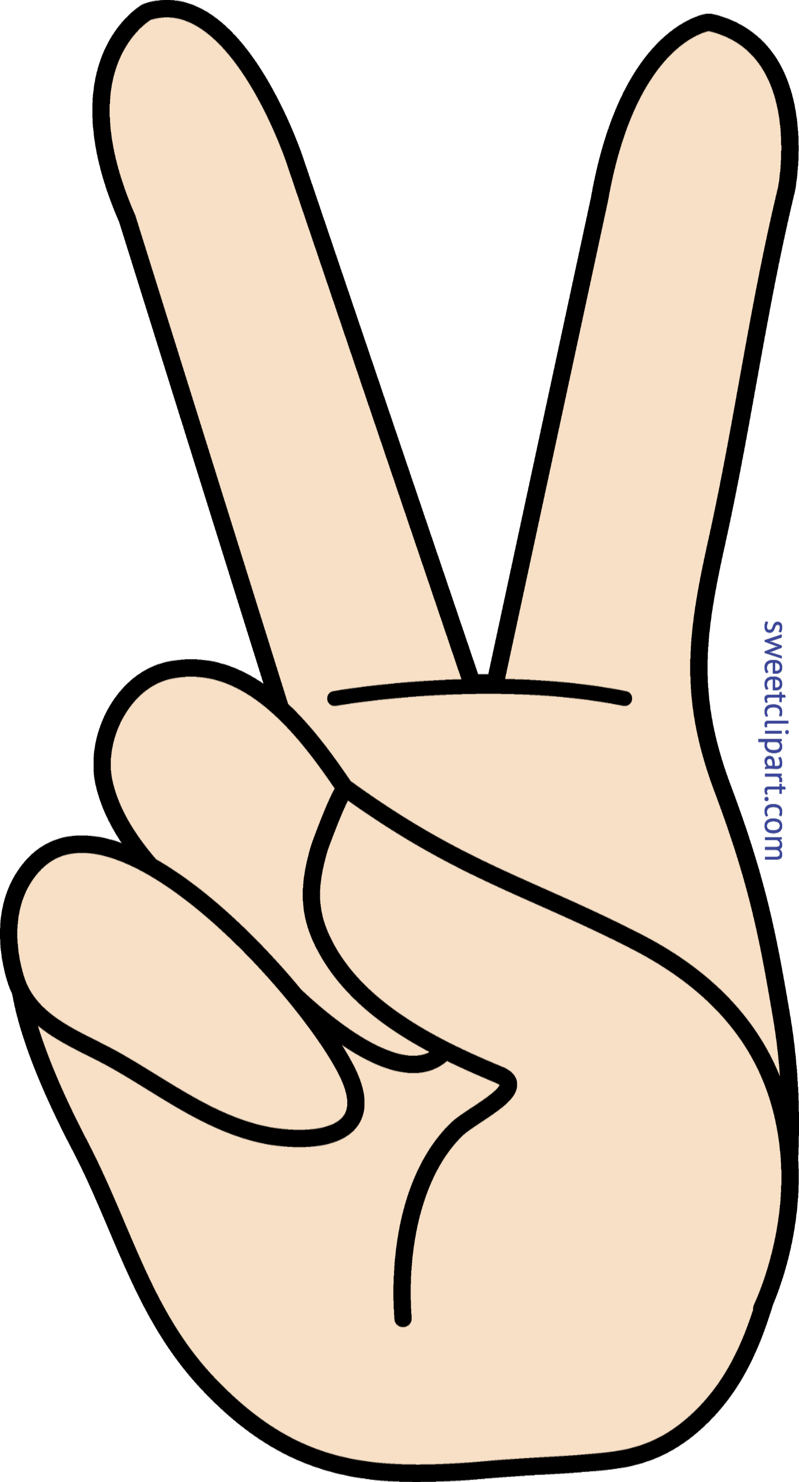 Legs hands clipart png. Peace hand sign clip