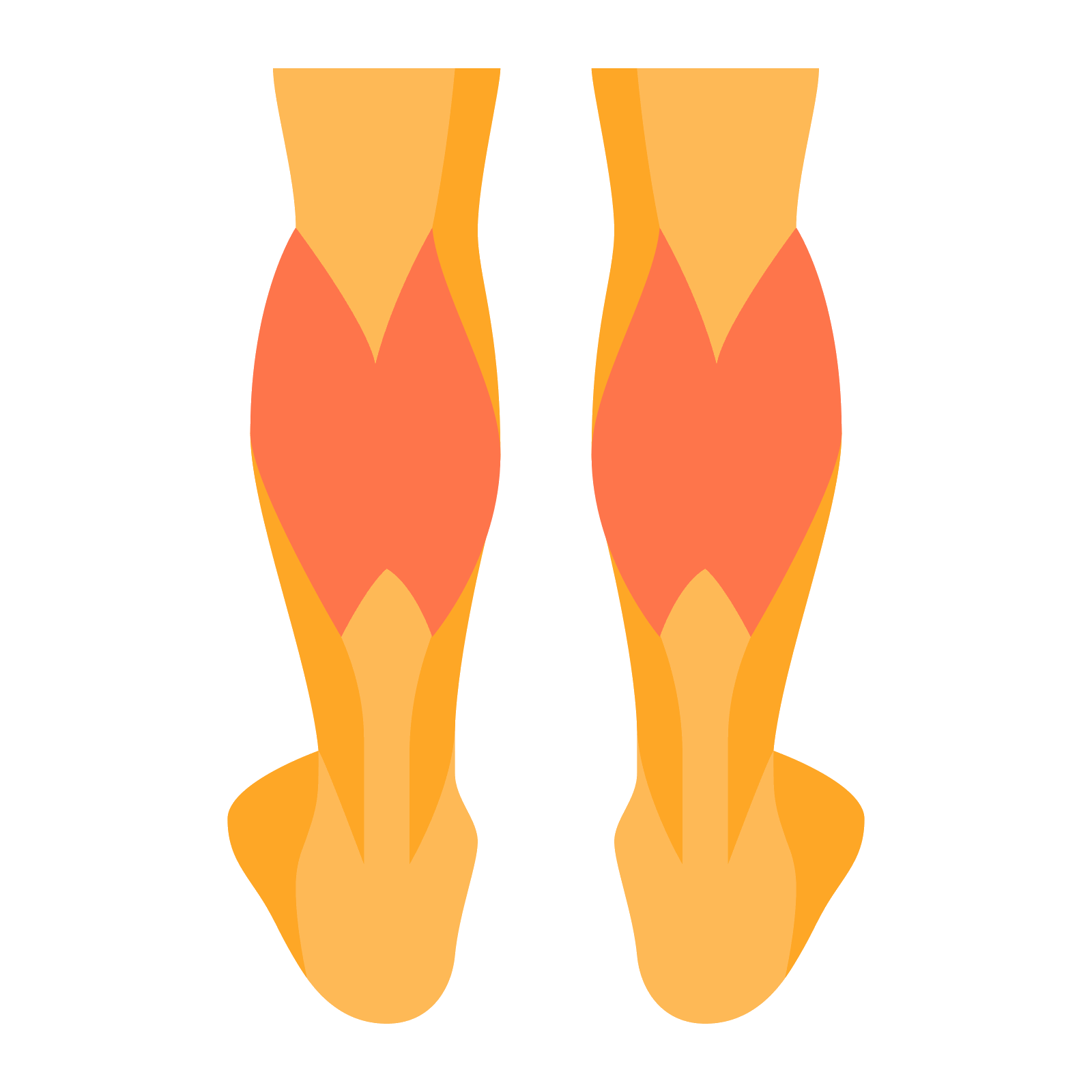 Legs vector png. Calves icon free download