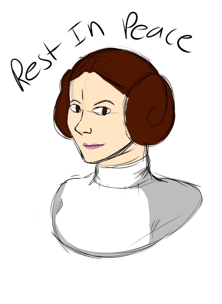 Leia drawing carrie fisher. Rip by icyhazardx on