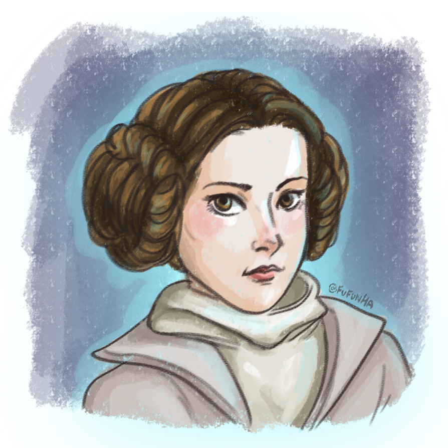 Leia drawing carrie fisher. By fufunha on deviantart