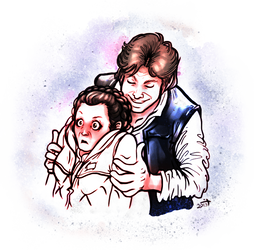 Leia drawing illustration. Han by crusanite on