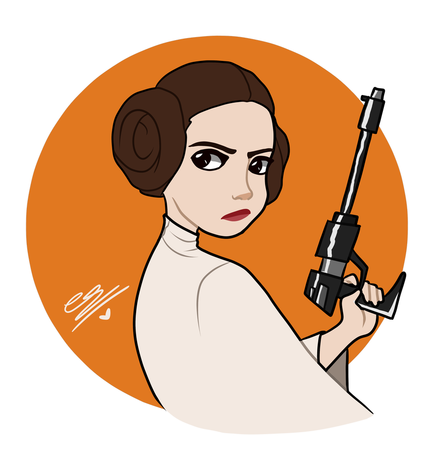 Leia drawing carrie fisher. Princess by simpaticasx on