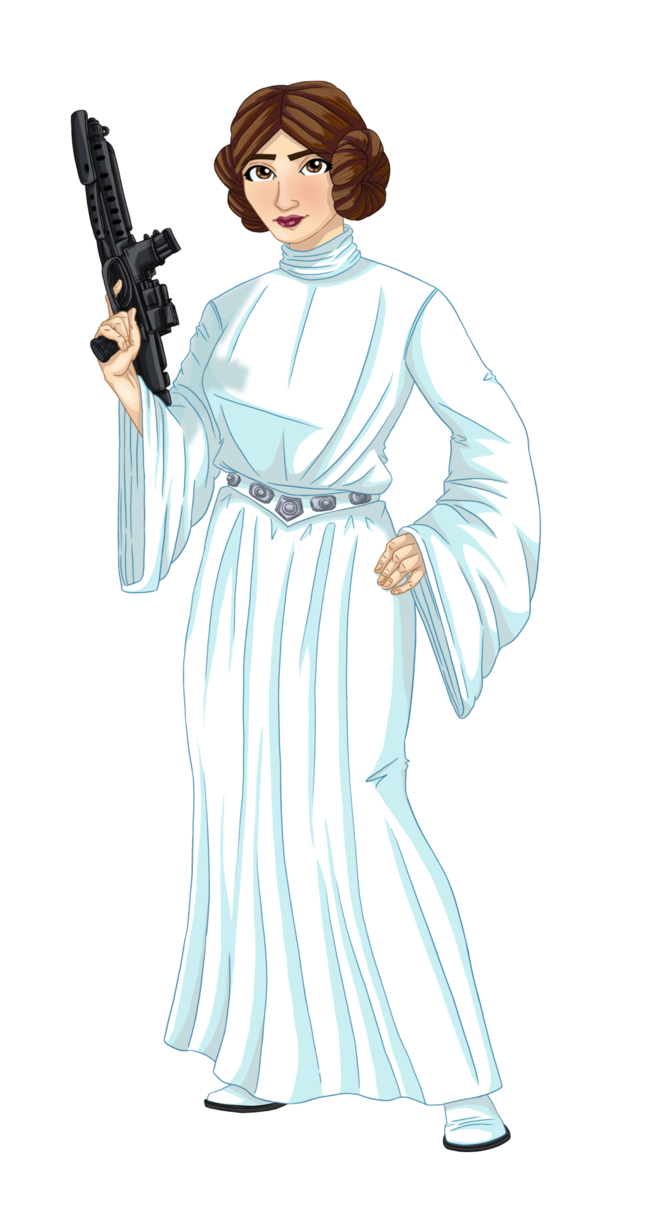 Leia drawing tribute. Princess by cleoam on