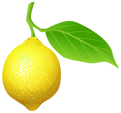 lemon clipart green