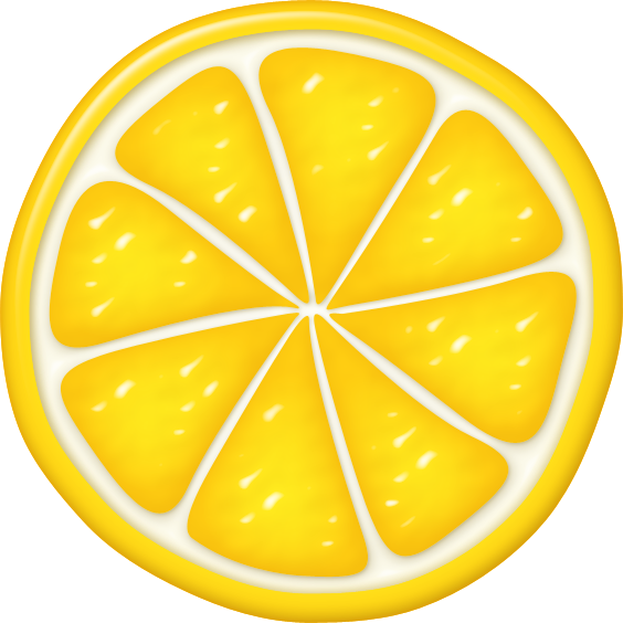Round lemon. Clipart for free download