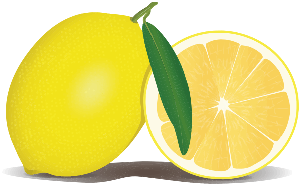 Lemon clipart bitter food. Free and a half