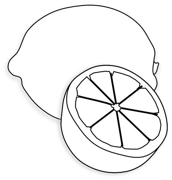 lemon clipart drawing