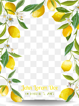 Lemon clipart psd. Vector png vectors and