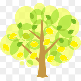 Lemon clipart psd. Tree png vectors and
