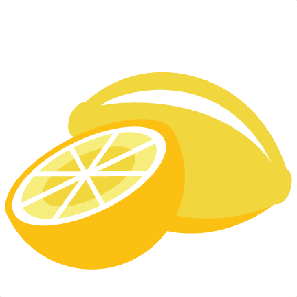 Lemon clipart svg. Lemons scrapbook cut file