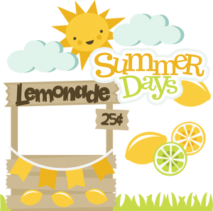 Lemon clipart svg. Summer days files lemonade