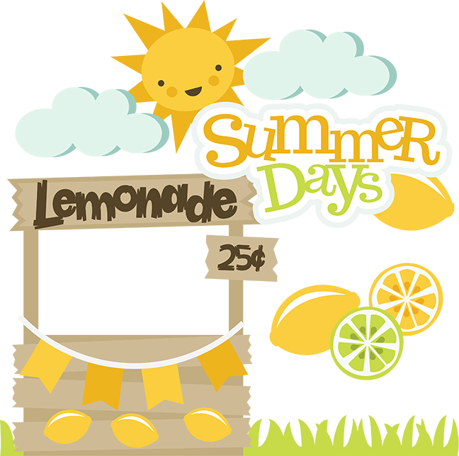 Lemon clipart svg. Summer days scrapbooking cut