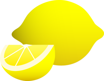 Lemon clipart yellow thing. Pencil and in color