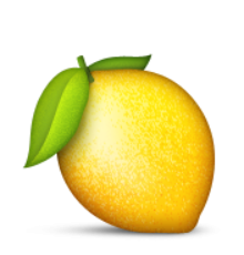 Lemon emoji png. Ios