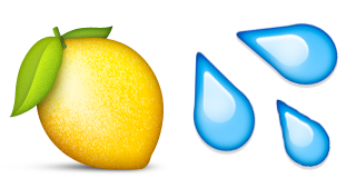 Lemon emoji png. Guess up lemonade game