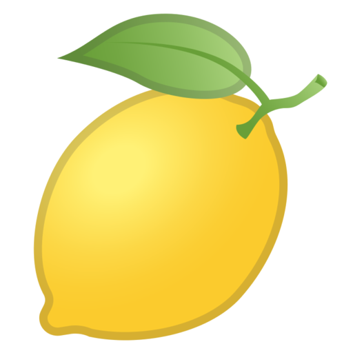 Lemon emoji png. Google android pie