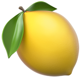 Lemon emoji png. On apple ios